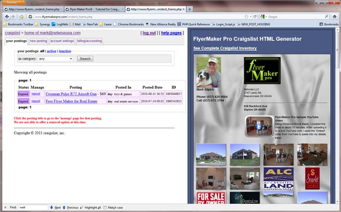 Flyer Maker Pro© - Tutorial for Craigslist Posting Tool
